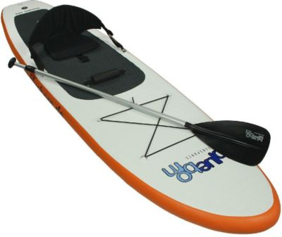 Blueborn  Traveller 10-6 double chamber SUP - Stand-Up Sit-on-Top Paddle-Board Set mit Sitz, Paddel, Pumpe im Packsack
