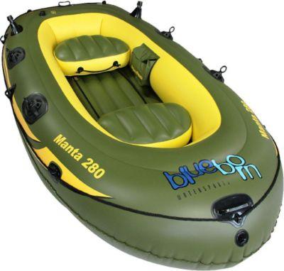Blueborn  Boat Manta 280 - 3 Personen Ruderboot, Angelboot 280x155cm (Tragfähigkeit 280 kg)