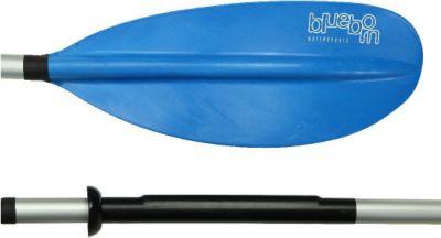Blueborn  KWB 220-2 - Aluminium Doppelpaddel 220cm, asymetrische verstellbare Paddelblätter, 1085g