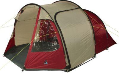 10 T Outdoor Equipment 10T Camping-Zelt Mandiga 5 Tunnelzelt mit Schlafkabine für 5 Personen Outdoor Familienzelt mit Wohnraum, Dauerbelüftung, Bodenplane, wasserdicht mit 5