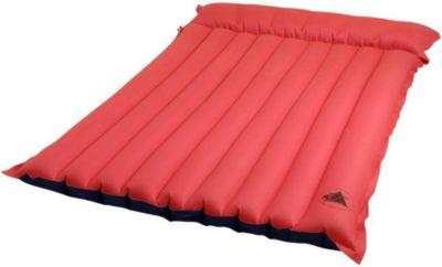 10 T Outdoor Equipment 10T Ruby Tube 2 Personen Baumwoll-Tube-Matratze 180x120x15cm Luftmatratze Luftbett Campingmatte Strand-Matratze mit Aussenbezug aus Baumwolle im rot -