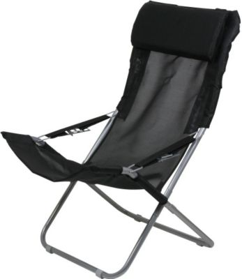 10 T Outdoor Equipment 10T Maxi Chair - Camping-Stuhl Relax Hochlehner mit Kopfpolster 4-fach verstellbar faltbar