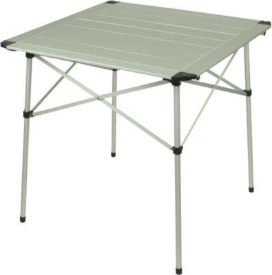 10 T Outdoor Equipment 10T Alutab Campingtisch 70x70 cm für 2 - 4 Personen Roll-Up Reise-Tisch mit Aluminium Tischplatte robuster Gartentisch mit Packsack Klapptisch für Cam