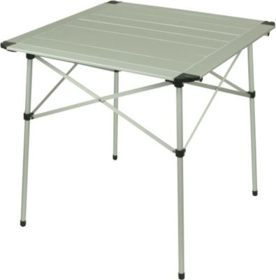 10 T Outdoor Equipment 10T Alutab Light - Camping-Tisch 70x70cm mit Lamellensystem-Tischplatte Aluminium handliches Packmaß
