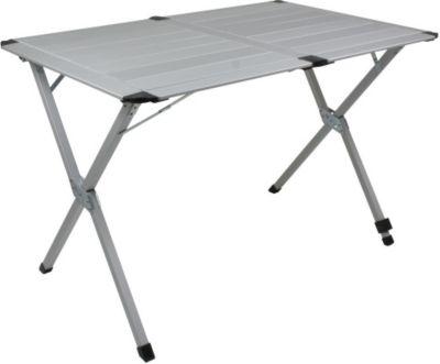 10 T Outdoor Equipment 10T AluTab Campingtisch 110x72cm für 4 Personen Roll-Up Reise-Tisch mit Aluminium Tischplatte robuster Gartentisch mit Packsack Klapptisch für Camping