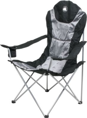 10 T Outdoor Equipment 10T Lightboy - Faltbarer XXL Camping-Stuhl mobiler Hochlehner Maxi Polster-Sitzfläche Getränkehalter