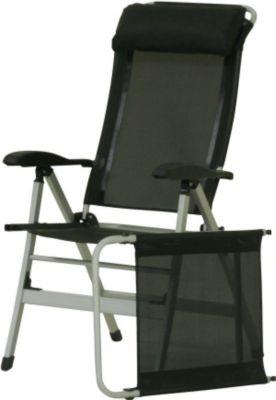 10 T Outdoor Equipment 10T Easychair - Alu Camping-Stuhl Hochlehner inkl. Kissen + Fußauflage 7-fach verstellbar faltbar