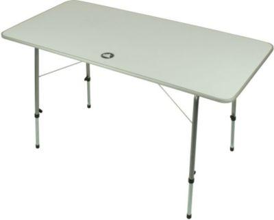 10 T Outdoor Equipment 10T Flaprack Double - Camping Klapp-Tisch 120x60cm stabile Tischplatte Teleskopbeine stufenlos