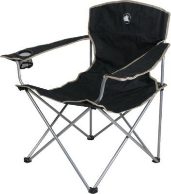 10 T Outdoor Equipment 10T Quickfold Easy XL Campingstuhl robuster Klappstuhl mit Getränkehalter faltbarer Gartenstuhl mit Armlehnen bequemer Angelstuhl inkl. Packsack