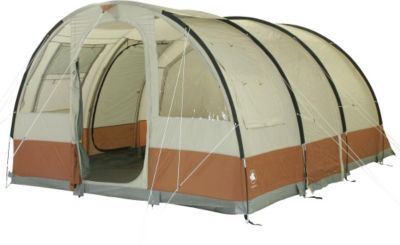 10 T Outdoor Equipment 10T Livingston 5 - 5-Personen Tunnelzelt mit Voll-Bodenplane gr. Vorraum + teilbare Innenkabine WS=3000mm