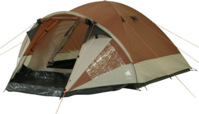 10 T Outdoor Equipment 10T Camping-Zelt Colville 4 Kuppelzelt mit Schlafkabine für 4 Personen Outdoor Familienzelt mit Vorraum, Dauerbelüftung, Bodenplane, wasserdicht mit 3