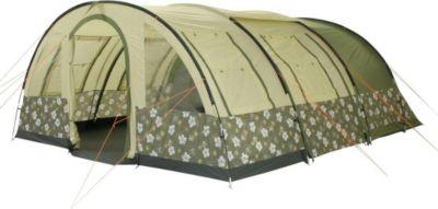 10 T Outdoor Equipment 10T Camping-Zelt Flowerton 6 Tunnelzelt mit Schlafkabinen für 6 Personen Outdoor Familienzelt mit Wohnraum, Zelt Belüftung, eingenähte Bodenwanne, was