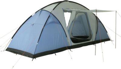 10T Camping-Zelt Weston 6 Vis-A-Vis Tunnelzelt mit Schlafkabinen für 6 Personen Outdoor Familienzelt mit Wohnraum, Sonnendach Aufstellstangen, wasserdicht mit 5000mm Wassersäule