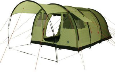 10 T Outdoor Equipment 10T Leighton 4 - Geräumiges 4-Personen Tunnel-Zelt mit großem Vordach und Bodenplane 2m Stehhöhe WS=5000mm