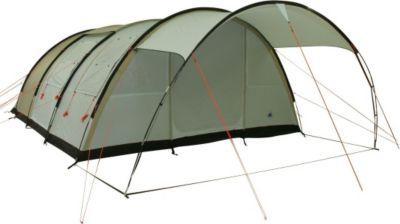 10 T Outdoor Equipment 10T Leighton 6 - 6-Personen Tunnel-Zelt mit großem Vordach und Voll-Bodenplane 2m Stehhöhe WS=5000mm