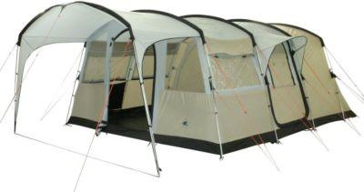 10 T Outdoor Equipment 10T Sorrento 6 - 6-Personen Tunnel-Zelt mit Vordach teilbare Schlafkabine Voll-Bodenwanne WS=5000mm