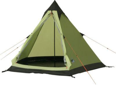 10T Camping-Zelt Comanche 300 Tipi mit Schlafbereich für 2 - 3 Personen Outdoor Idianerzelt mit Dauerbelüftung, Trekkingzelt mit eingenähter Bodenwanne, wasserdichtes Pyramidenzelt mit 5000mm Wassersäule