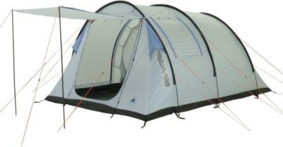 10T Salton 4 - 4-Personen Tunnel-Zelt Vorraum + teilbare Innenkabine eingenähte Bodenplane WS=5000mm