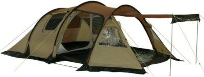 10T Camping-Zelt Felton 4 Tunnelzelt mit Schlafkabine für 4 Personen Outdoor Trekkingzelt mit Wohnraum, Dauerbelüftung, Sonnendach Aufstellstangen, wasserdicht mit 5000mm Wassersäule