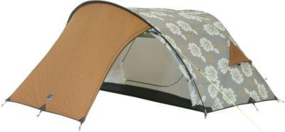 10T ProBike - 2-Personen Trekking- / Touren-Zelt im Blumendessin mit Fahrrad-Vorraum WS=5000mm