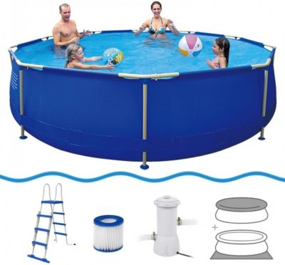 Schwimmbecken mit pumpe preisvergleich die besten - Pool mit stahlrahmen ...
