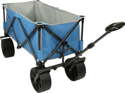 Fridani  BTB Trolley XXL Bollerwagen bis 100kg Strandwagen mit Breitreifen faltbarer Handwagen Kinderwagen für Strand Straße und Sandboden inkl. Einleg