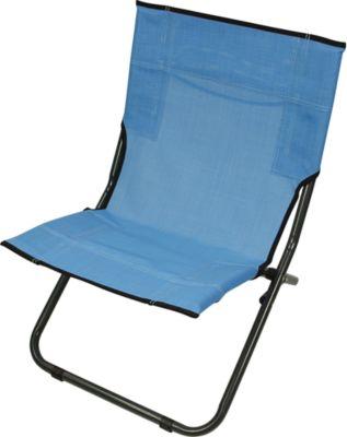 BCB 620 XXL Textilene Strandstuhl klappbarer Campingstuhl bequemer Klappstuhl robuste Sonnenliege mit luftdurchlässigem Sitz-Bezug und Tragegriff