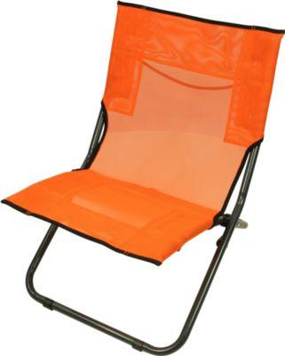 BCO 620 XXL Textilene Strandstuhl klappbarer Campingstuhl bequemer Klappstuhl robuste Sonnenliege mit luftdurchlässigem Sitz-Bezug und Tragegriff