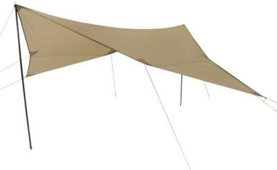 10 T Outdoor Equipment 10T Tarp III - Rechteckiges Sonnensegel Tarp 500x500cm mit Aufstell-Stangen beige WS=2000mm