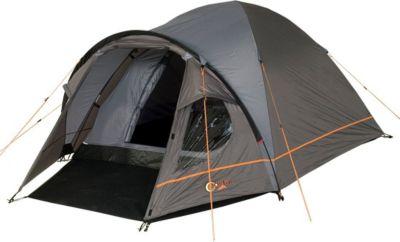 Camping-Zelt Bravo 3 Kuppelzelt mit Schlafkabine für 3 Personen Outdoor Familienzelt mit Wohnraum, Dauerbelüftung, Bodenplane, wasserdicht mit 4000mm Wassersäule
