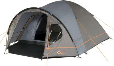 Camping-Zelt Zeta 4 Kuppelzelt mit Schlafkabine für 4 Personen Outdoor Familienzelt mit Vorraum, Dauerbelüftung, Bodenplane, wasserdicht mit 4000mm Wassersäule