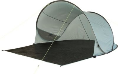 10 T Outdoor Equipment 10T Bahamas UV 50+ - Pop-Up Strandmuschel 220x180x110cm Wind- & Sonnenschutz mit Bodenplane
