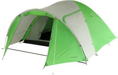 Camping-Zelt DSG 400 Kuppelzelt mit Schlafkabine für 4 Personen Outdoor Familienzelt mit Vorraum, Dauerbelüftung, wasserdicht mit 3000mm Wassersäule
