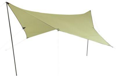 10 T Outdoor Equipment 10T Beechnut Tarp 3x3 UV-50+ - Sonnensegel, 300x300 cm mit Aufstell-Stangen und Heringen, 2000mm