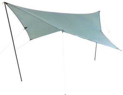 10 T Outdoor Equipment 10T Arona Tarp 3x3 m Sonnensegel mit UV50+ Sonnenschutz Camping Sonnendach Outdoor Markise mit Aufstellstangen Abspannleinen Heringe, wasserdicht mit