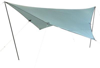 10 T Outdoor Equipment 10T Arona Tarp 4x4 m Sonnensegel mit UV50+ Sonnenschutz Camping Sonnendach Outdoor Markise mit Aufstellstangen Abspannleinen Heringe, wasserdicht mit