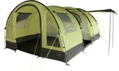 10 T Outdoor Equipment 10T Camping-Zelt Devonport 5 Tunnelzelt mit Schlafkabine für 5 Personen Outdoor Familienzelt mit Wohnraum, Zelt Belüftung, eingenähte Bodenwanne, wass