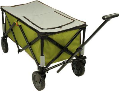 10 T Outdoor Equipment 10T Cooler Trolley - faltbarer Bollerwagen, Strandwagen mit Kühlfach, max 75kg