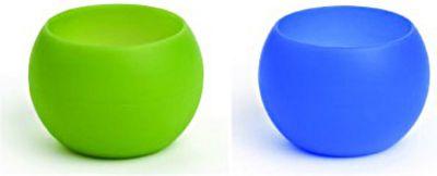 Squishy Shot - 2 Becher à 44ml aus Silikon grün/blau