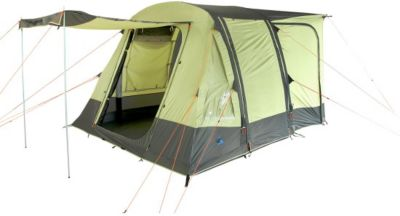 10T Camping Vorzelt Triton aufblasbares Busvorzelt mit eingenähter Bodenwanne, freistehendes Familienzelt mit Wohnraum, Tunnelzelt mit Zelt Anschluss