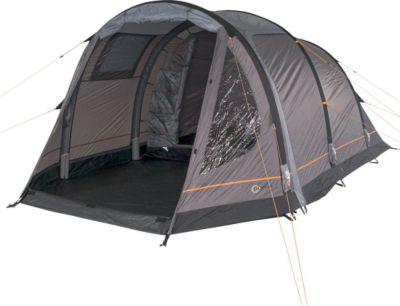 Camping-Zelt Alfa 4 aufblasbares AirTube Tunnelzelt mit Schlafkabine für 4 Personen Outdoor Familienzelt mit Wohnraum, eingenähte Bodenwanne, wasserdicht mit 5000mm Wassersäule inkl. Pumpe