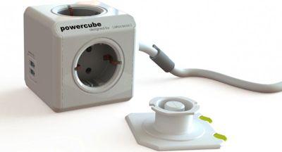 PowerCube DuoUSB Extended DE 3 m, 4x Verteiler, 230V Schuko