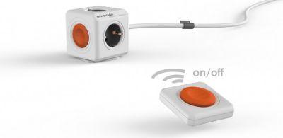 Eco PowerCube Remote Extended mit Power Remote Fernbedienung, 4 fach Steckdose zum Stromsparen, 230V Schuko
