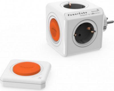 Eco PowerCube Remote Original mit Fernbedienung, schaltbare 4 fach Steckdose zum Stromsparen, 230V Schuko