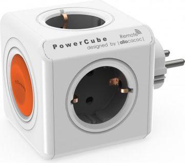 Eco PowerCube Remote Original mit Schalter, 4 fach Steckdose zum Stromsparen, 230V Schuko
