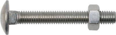 Flachrundschraube mit Vierkantansatz und Mutter DIN 603 M5 x 40 mm Edelstahl A2 SW8 50 Stück