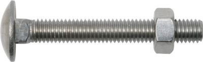 Flachrundschraube mit Vierkantansatz und Mutter DIN 603 M8 x 50 mm Edelstahl A2 SW13 25 Stück