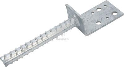Stützenschuhe L-Form 80 X 40 X 4 mm Stahl verzinkt 1 Stück