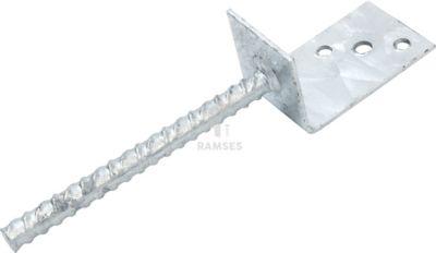 Pfostenträger L-Form gebogene Dolle 70 X 60 X 100 mm Stahl verzinkt