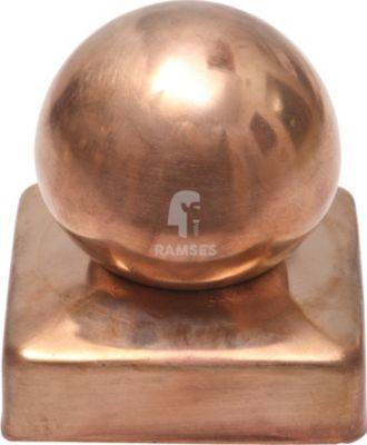 Pfostenkappen mit Kugel 70 X 70 mm Kupfer 1 Stück